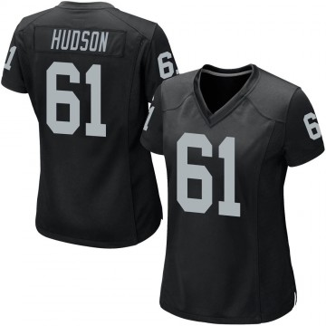 Women's Nike Las Vegas Raiders Rodney Hudson Black Team Color Jersey - Game