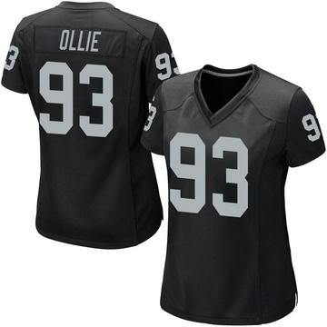 Women's Nike Las Vegas Raiders Ronald Ollie Black Team Color Jersey - Game