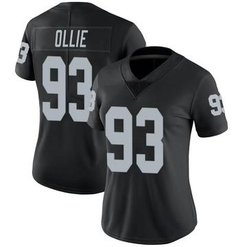 Women's Nike Las Vegas Raiders Ronald Ollie Black Team Color Vapor Untouchable Jersey - Limited