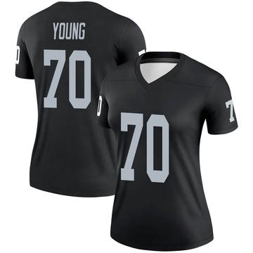 Women's Nike Las Vegas Raiders Sam Young Black Jersey - Legend