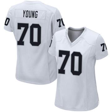 Women's Nike Las Vegas Raiders Sam Young White Jersey - Game