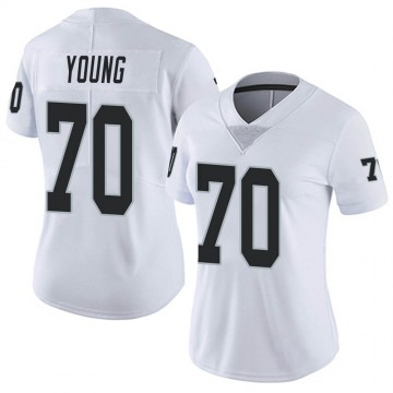 Women's Nike Las Vegas Raiders Sam Young White Vapor Untouchable Jersey - Limited