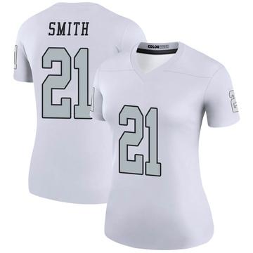 Women's Nike Las Vegas Raiders Sean Smith White Color Rush Jersey - Legend