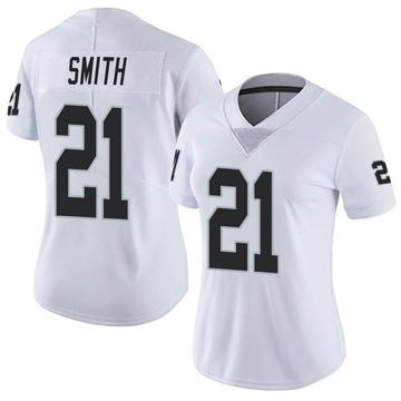 Women's Nike Las Vegas Raiders Sean Smith White Vapor Untouchable Jersey - Limited