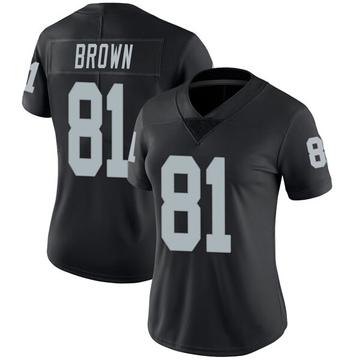 Women's Nike Las Vegas Raiders Tim Brown Black Team Color Vapor Untouchable Jersey - Limited