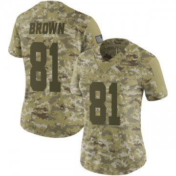 Women's Nike Las Vegas Raiders Tim Brown Brown Camo 2018 Salute to Service Jersey - Limited