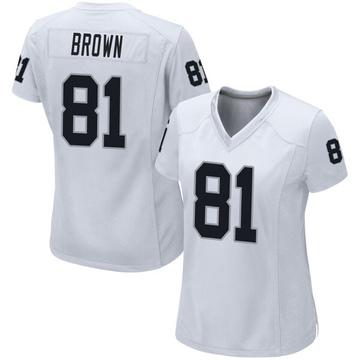 Women's Nike Las Vegas Raiders Tim Brown White Jersey - Game