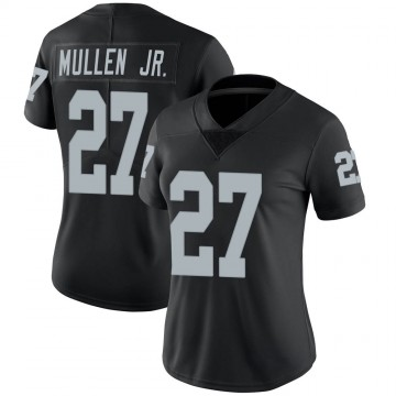 Women's Nike Las Vegas Raiders Trayvon Mullen Black Team Color Vapor Untouchable Jersey - Limited