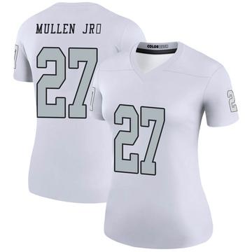 Women's Nike Las Vegas Raiders Trayvon Mullen White Color Rush Jersey - Legend