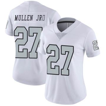 Women's Nike Las Vegas Raiders Trayvon Mullen White Color Rush Jersey - Limited