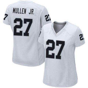 Women's Nike Las Vegas Raiders Trayvon Mullen White Jersey - Game