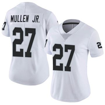Women's Nike Las Vegas Raiders Trayvon Mullen White Vapor Untouchable Jersey - Limited