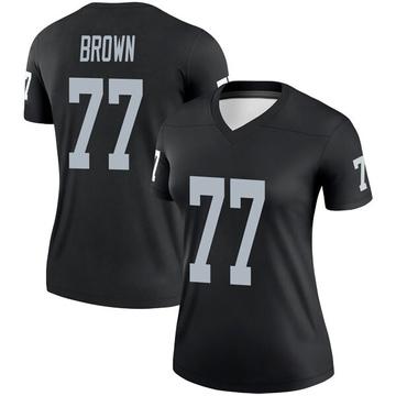 Women's Nike Las Vegas Raiders Trent Brown Black Jersey - Legend