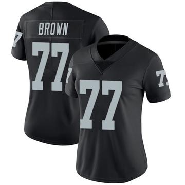 Women's Nike Las Vegas Raiders Trent Brown Black Team Color Vapor Untouchable Jersey - Limited