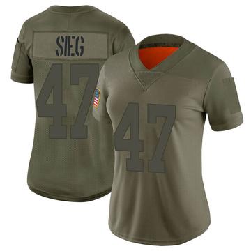 Women's Nike Las Vegas Raiders Trent Sieg Camo 2019 Salute to Service Jersey - Limited