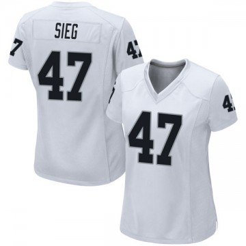 Women's Nike Las Vegas Raiders Trent Sieg White Jersey - Game