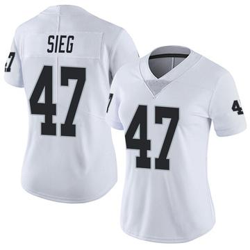 Women's Nike Las Vegas Raiders Trent Sieg White Vapor Untouchable Jersey - Limited