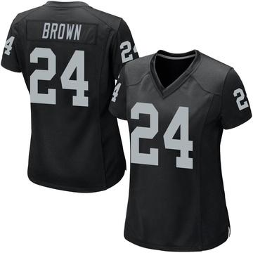Women's Nike Las Vegas Raiders Willie Brown Black Team Color Jersey - Game