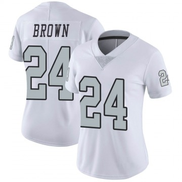 Women's Nike Las Vegas Raiders Willie Brown White Color Rush Jersey - Limited