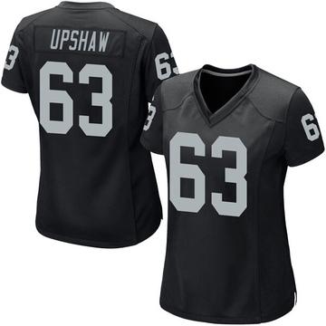 Women's Nike Las Vegas Raiders Wilson Gene Upshaw Black Team Color Jersey - Game