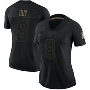 Women's Nike Las Vegas Raiders Wilson Ray Guy Black 2020 Salute To Service Jersey - Limited