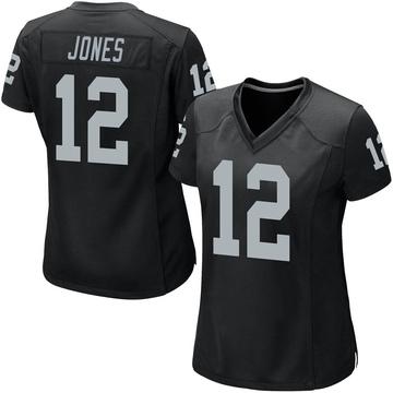 Women's Nike Las Vegas Raiders Zay Jones Black Team Color Jersey - Game
