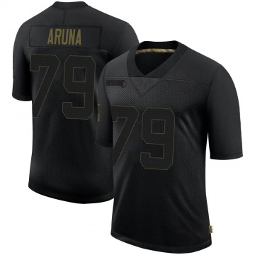 Youth Nike Las Vegas Raiders Ade Aruna Black 2020 Salute To Service Jersey - Limited