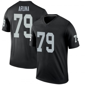 Youth Nike Las Vegas Raiders Ade Aruna Black Jersey - Legend