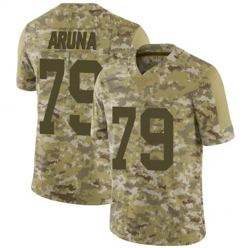 Youth Nike Las Vegas Raiders Ade Aruna Camo 2018 Salute to Service Jersey - Limited