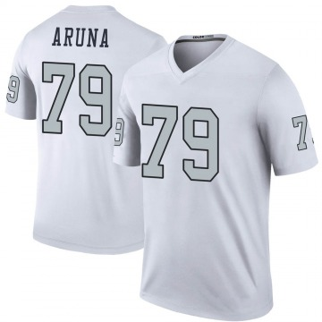 Youth Nike Las Vegas Raiders Ade Aruna White Color Rush Jersey - Legend