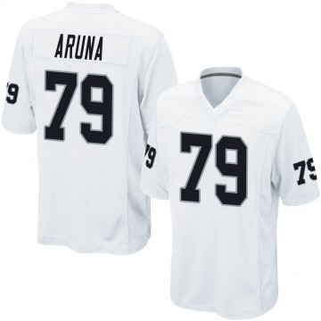 Youth Nike Las Vegas Raiders Ade Aruna White Jersey - Game