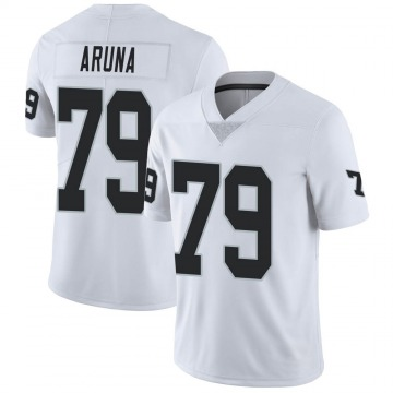 Youth Nike Las Vegas Raiders Ade Aruna White Vapor Untouchable Jersey - Limited