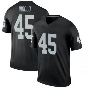 Youth Nike Las Vegas Raiders Alec Ingold Black Jersey - Legend