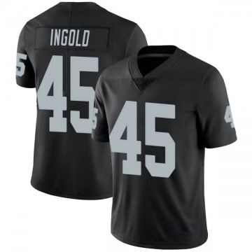 Youth Nike Las Vegas Raiders Alec Ingold Black Team Color Vapor Untouchable Jersey - Limited