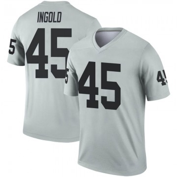 Youth Nike Las Vegas Raiders Alec Ingold Inverted Silver Jersey - Legend