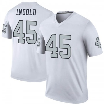 Youth Nike Las Vegas Raiders Alec Ingold White Color Rush Jersey - Legend