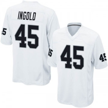 Youth Nike Las Vegas Raiders Alec Ingold White Jersey - Game