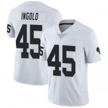 Youth Nike Las Vegas Raiders Alec Ingold White Vapor Untouchable Jersey - Limited