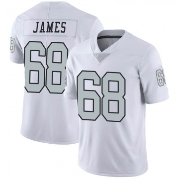 Youth Nike Las Vegas Raiders Andre James White Color Rush Jersey - Limited