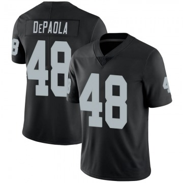Youth Nike Las Vegas Raiders Andrew DePaola Black 100th Vapor Jersey - Limited