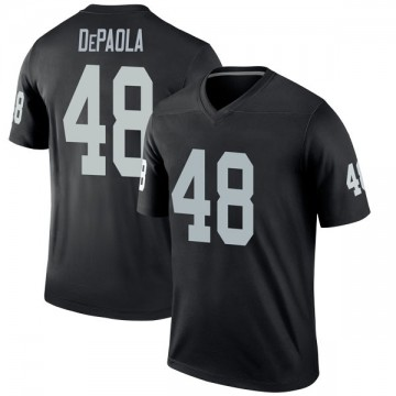 Youth Nike Las Vegas Raiders Andrew DePaola Black Jersey - Legend