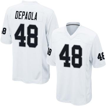 Youth Nike Las Vegas Raiders Andrew DePaola White Jersey - Game