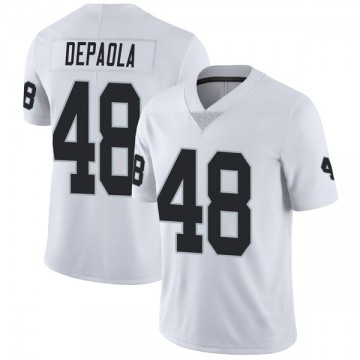 Youth Nike Las Vegas Raiders Andrew DePaola White Vapor Untouchable Jersey - Limited