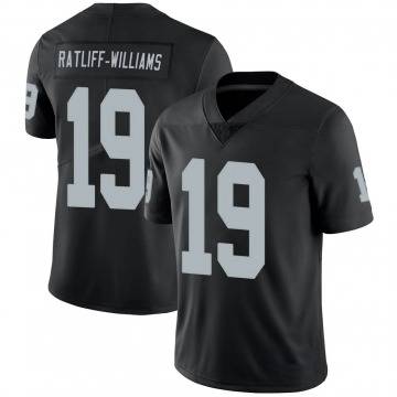 Youth Nike Las Vegas Raiders Anthony Ratliff-Williams Black 100th Vapor Jersey - Limited