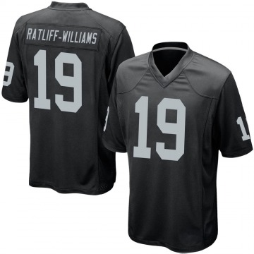 Youth Nike Las Vegas Raiders Anthony Ratliff-Williams Black Team Color Jersey - Game