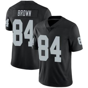 Youth Nike Las Vegas Raiders Antonio Brown Black 100th Vapor Jersey - Limited
