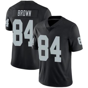 Youth Nike Las Vegas Raiders Antonio Brown Black Team Color Vapor Untouchable Jersey - Limited