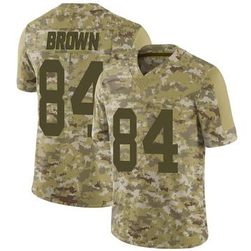 Youth Nike Las Vegas Raiders Antonio Brown Brown Camo 2018 Salute to Service Jersey - Limited