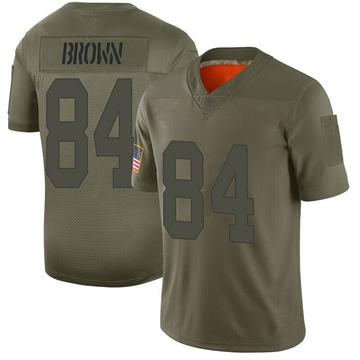 Youth Nike Las Vegas Raiders Antonio Brown Brown Camo 2019 Salute to Service Jersey - Limited