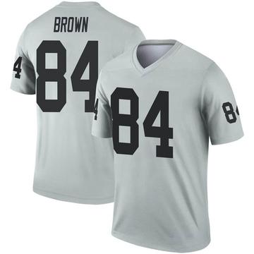 Youth Nike Las Vegas Raiders Antonio Brown Brown Inverted Silver Jersey - Legend